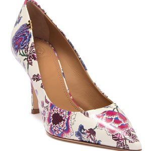 Tory Burch Penelope Floral Leather Pump 6.5